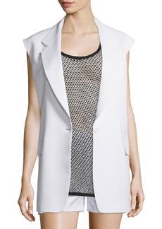 DKNY Crepe Oversized Open-Back Vest