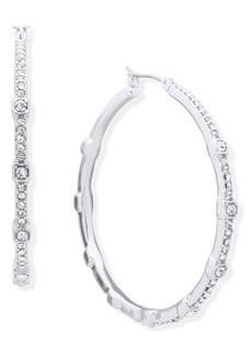 Dkny Crystal Cube Medium Hoop Earrings, 1.9