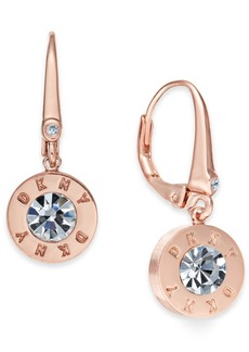 Dkny Crystal Logo Drop Earrings, Created for Macy's