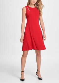 Dkny Cutout Fit & Flare Dress