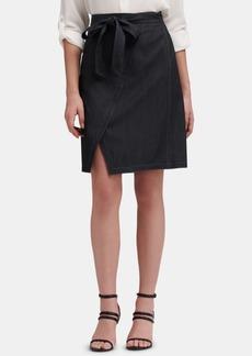 Dkny Denim Wrap Skirt