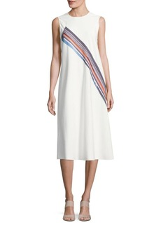 DKNY Diagonal Striped Midi Dress