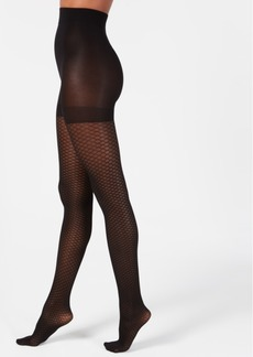 Dkny Diamond-Print Tights