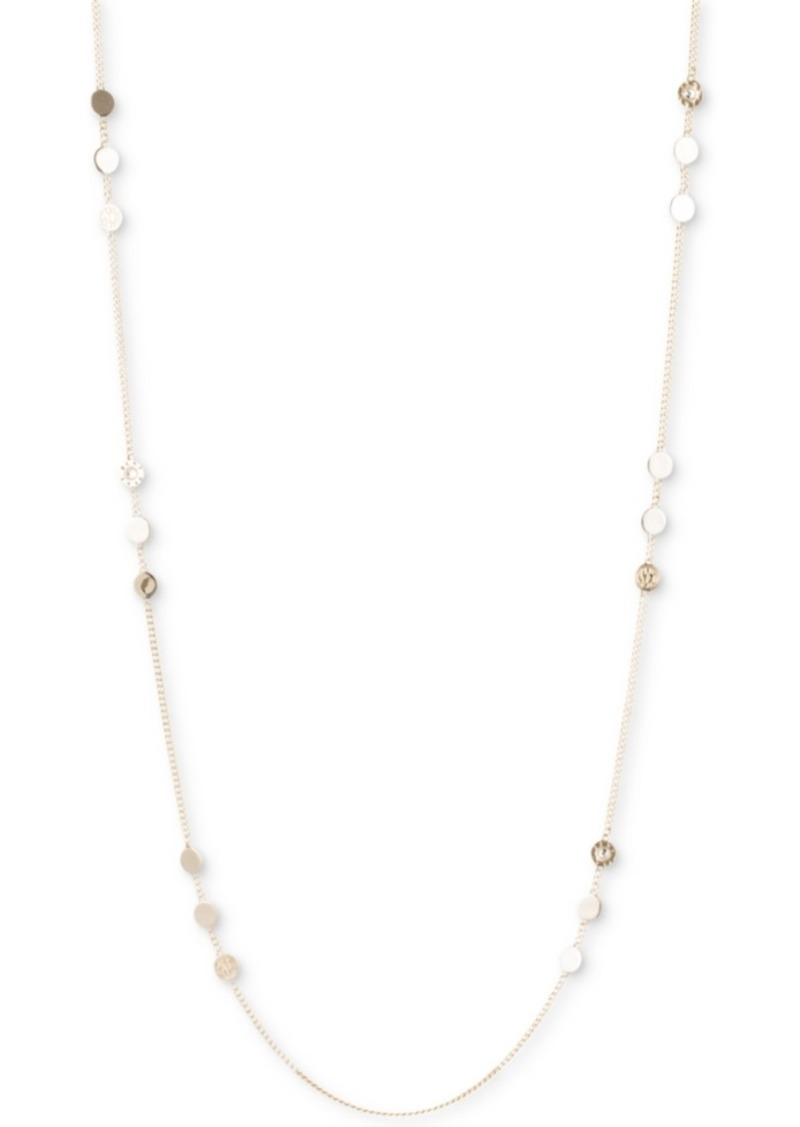 Dkny Disc & Logo Long Statement Necklace, Created for Macy's