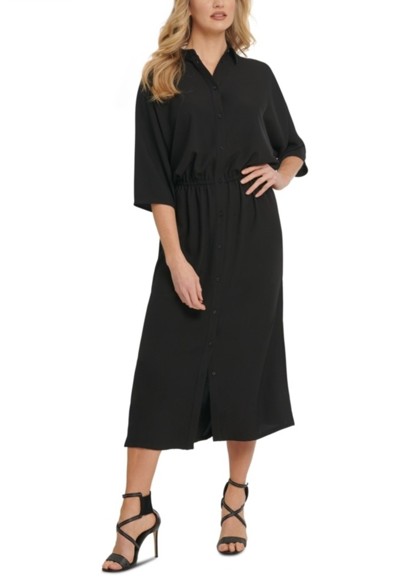 Dkny Dolman-Sleeve Cinched Shirtdress