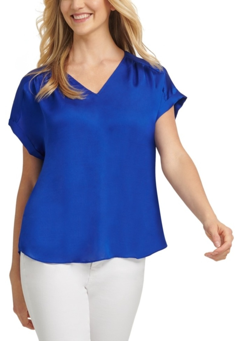 Dkny Dolman-Sleeve V-Neck Top