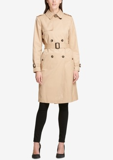 Dkny Double-Breasted Belted Trench Coat