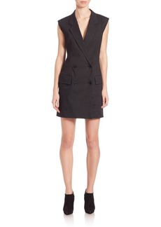 DKNY Double Breasted Short Jumpsuit