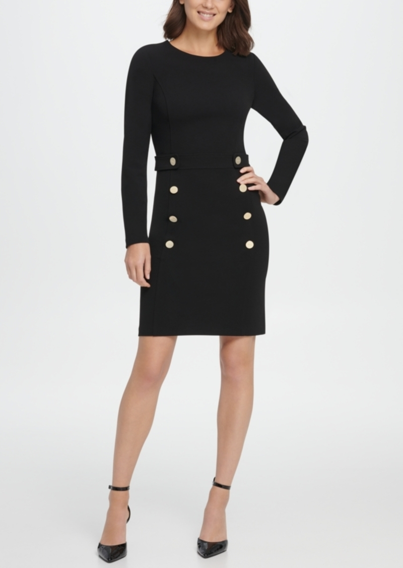 Dkny Double Breasted Skirt Sheath Dress