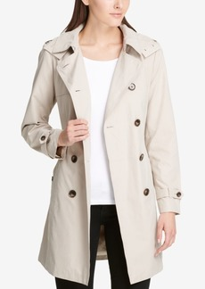 Dkny Double-Breasted Trench Coat, Created for Macy's