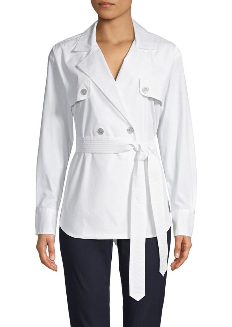 DKNY Donna Karan New York Double Breasted Trench Shirt