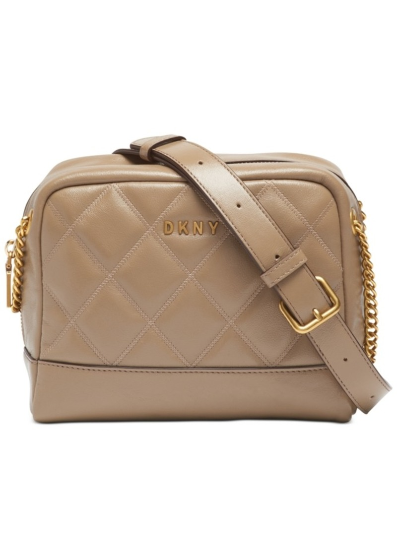 Dkny Sofia Double-Chain Leather Shoulder Bag, Created for Macy's