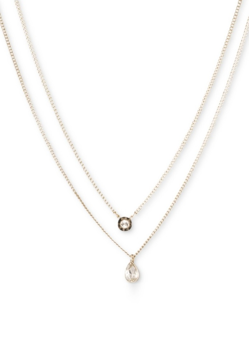 """Dkny Double Row Pendant Necklace, 16"""" long + 3"""" Extender, Created for Macy's"""