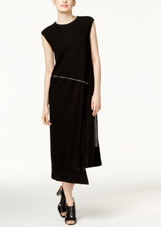 Dkny Draped Asymmetrical Midi Dress