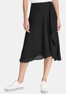 Dkny Draped Midi Skirt