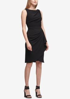 Dkny Draped Scuba Sheath Dress, Created for Macy's