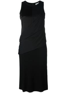 DKNY draped wrap shirt dress - Black