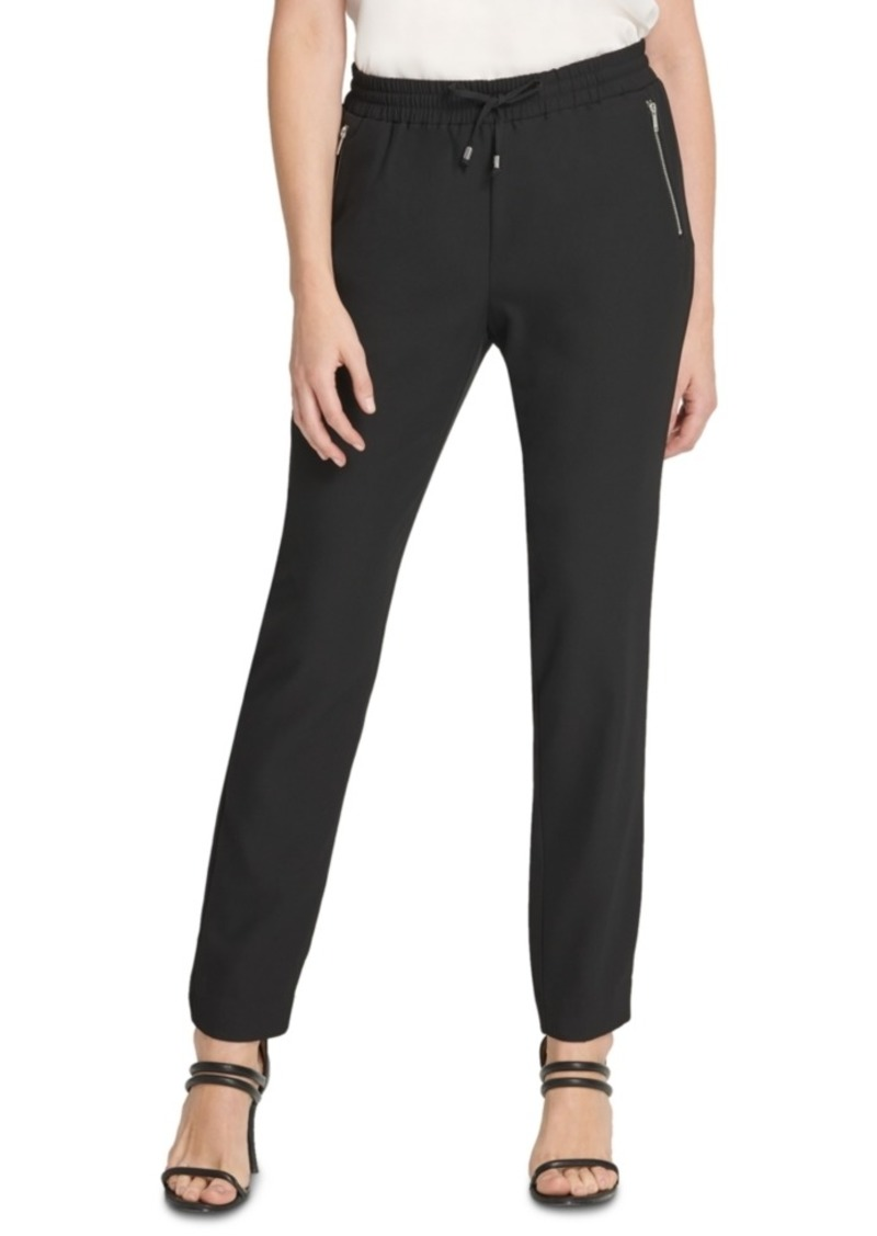 Dkny Drawstring-Waist Zippered-Pocket Pants