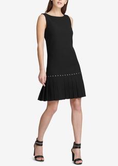 Dkny Drop-Waist Pleated Dress, Created for Macy's