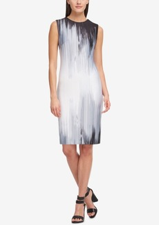 Dkny Edge Fade Printed Shift Dress, Created for Macy's