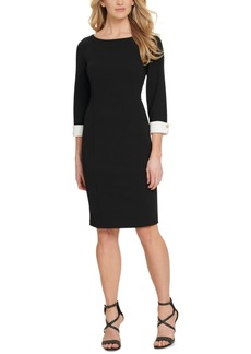 Dkny Elbow-Sleeve Sheath Dress