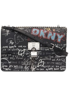 Dkny Elissa Leather Graffiti Logo Chain Strap Shoulder Bag, Created for Macy's