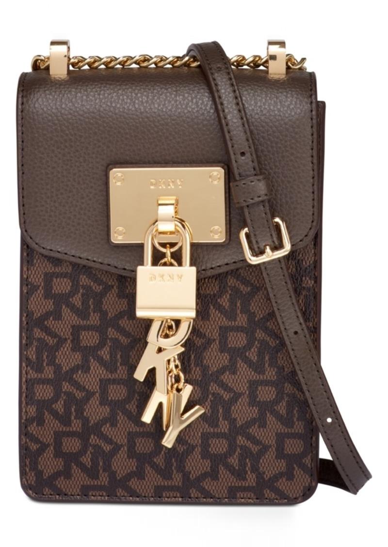 DKNY Dkny Elissa Leather Chain Strap Signature Crossbody 60373828107dc