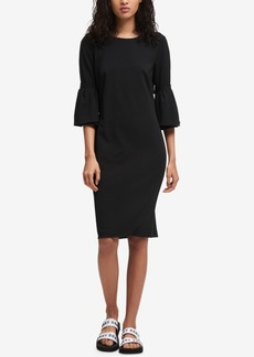 Dkny Embellished Bell-Sleeve Dress, Created for Macy's