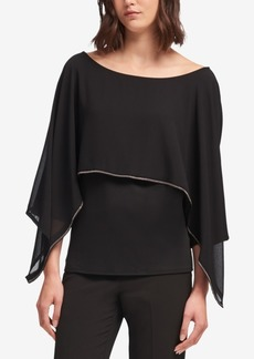 Dkny Embellished Cape Top, Created for Macy's