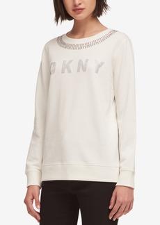 Dkny Embellished Logo Sweatshirt, Created for Macy's
