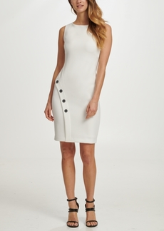 Dkny Embellished Skirt-Overlap Sheath Dress