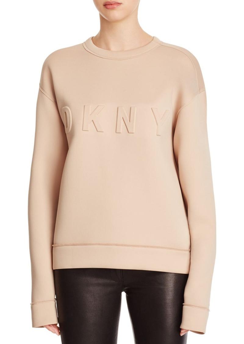 DKNY Embossed Logo Scuba Sweatshirt