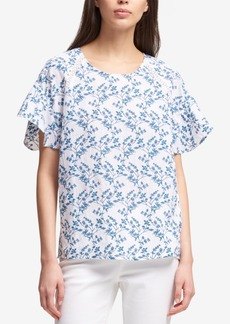 Dkny Embroidered Eyelet Top, Created for Macy's