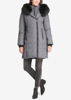 Dkny Faux-Fur-Trim Hooded Puffer Coat, Created for Macy's