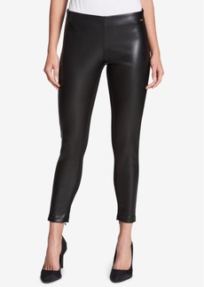 Dkny Faux-Leather-Front Skinny Leggings