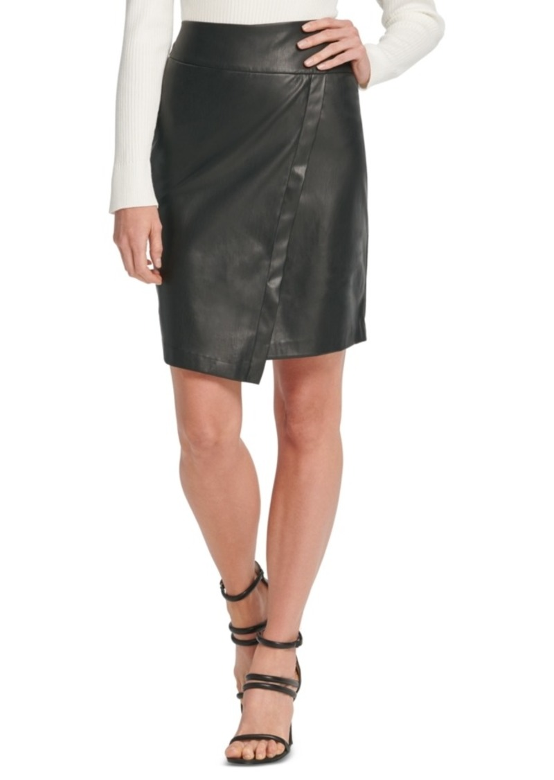Dkny Faux-Leather Skirt