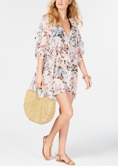 Dkny Floral Chiffon Caftan Cover-Up, Created For Macy's Women's Swimsuit