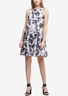Dkny Floral-Print Shift Dress, Created for Macy's