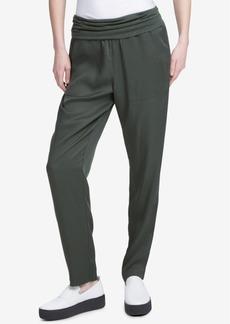 Dkny Foldover Waist Tencel Pants, Created for Macy's