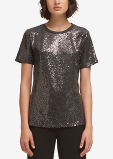 Dkny Foundation Sequin Crewneck Top
