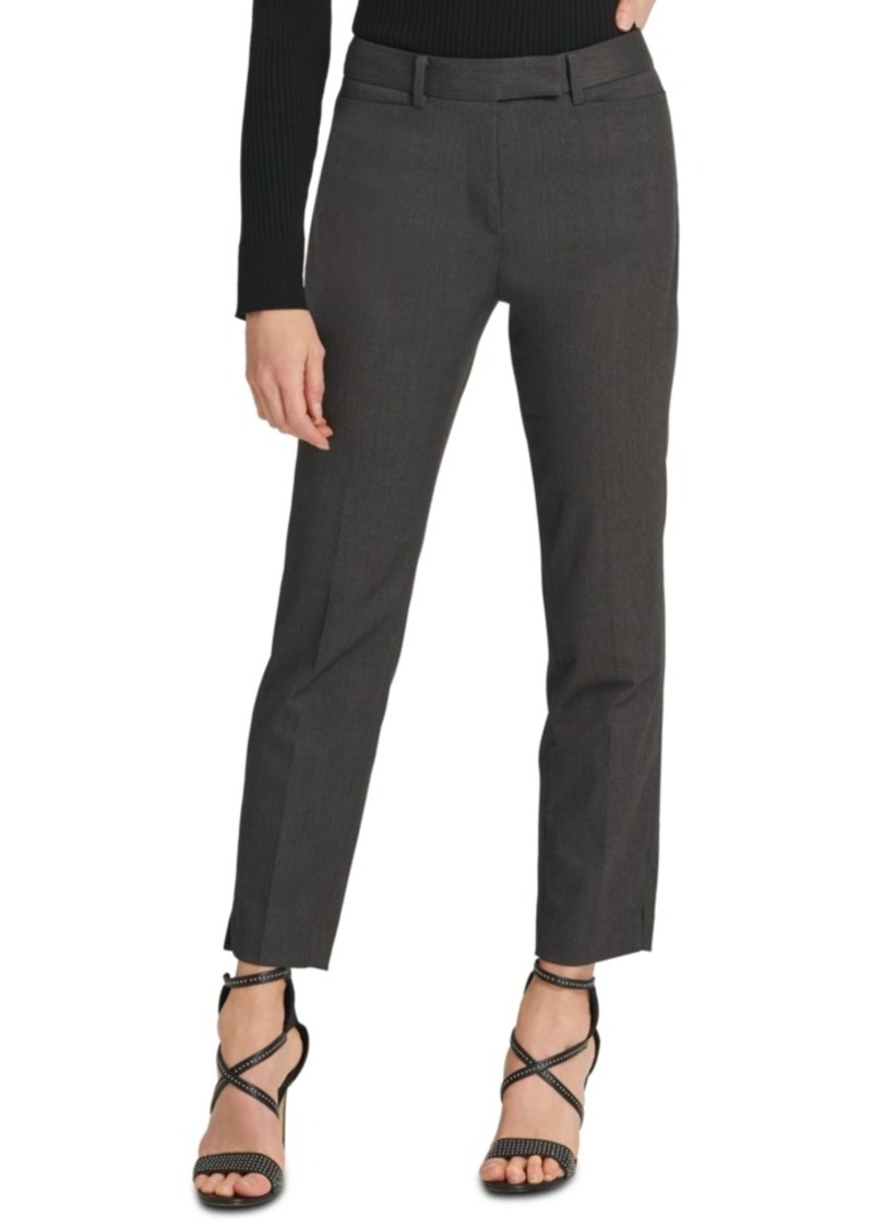 Dkny Foundation Slim-Fit Straight-Leg Pants