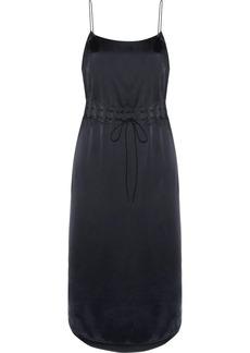 DKNY Gathered satin slip dress