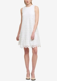 Dkny Geometric Lace Shift Dress, Created for Macy's