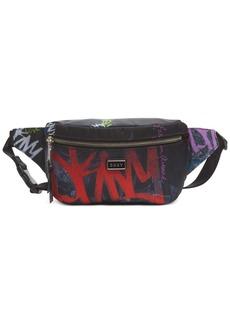 Dkny Gigi Graffiti Logo Belt Bag, Created For Macy's