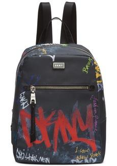 Dkny Gigi Nylon Graffiti Logo Backpack, Created for Macy's