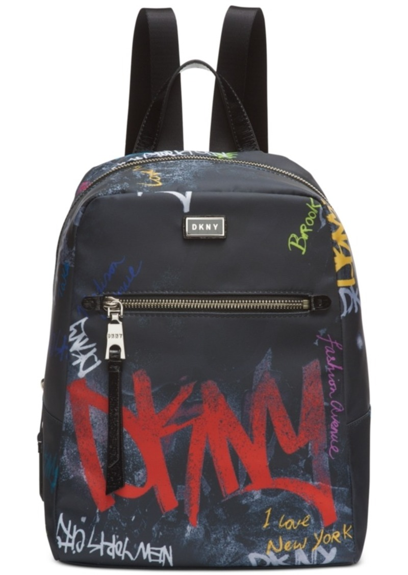 Dkny Gigi Nylon Graffiti Logo Backpack, Created for Macy's