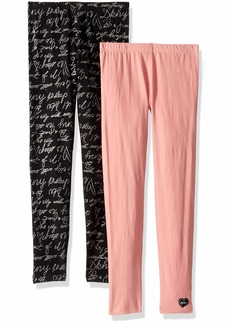 DKNY Girls' Big 2 Pack Logo Font Legging Set