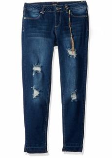 DKNY Girls' Big Chrystie Super Skinny Ankle Jean