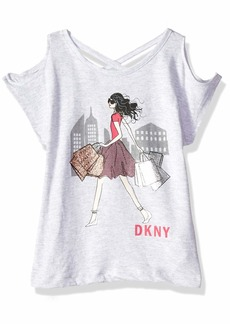 DKNY Girls' Big Cross Back Top