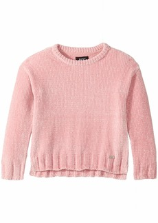 DKNY Girls' Big High Low Chenille Sweater